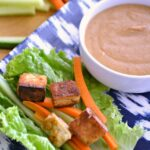 Easy Lettuce Wraps ... this easy to make vegan bowl recipe is perfect for busy weeknights and tastes amazing topped with my Quick Peanut Sauce! | Hello Little Home