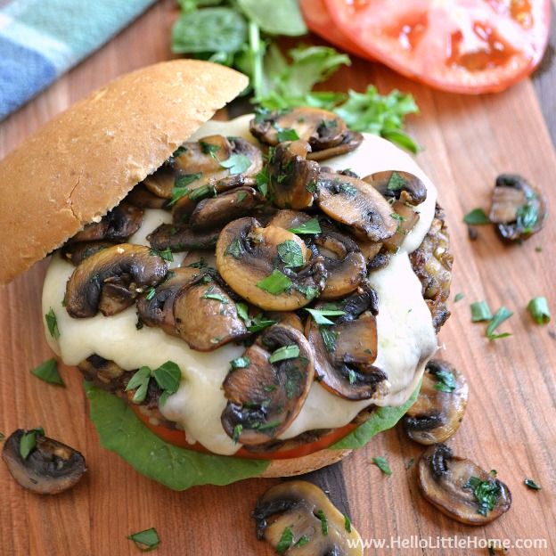 Mushroom Swiss Veggie Burgers