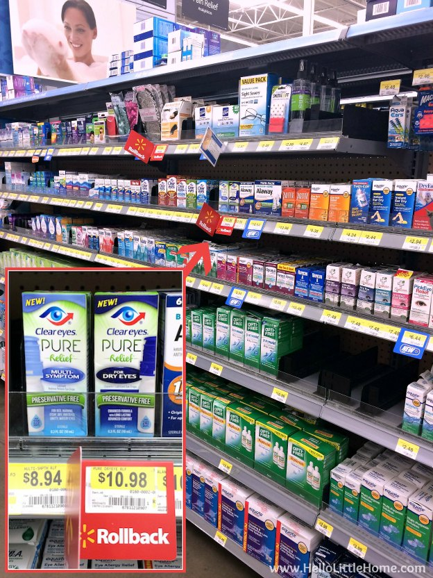 Clear Eyes Pure Relief at Walmart | Hello Little Home