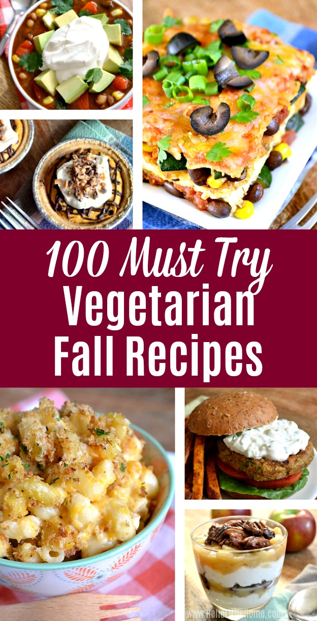 Collage of Vegetarian Fall Recipe Photos