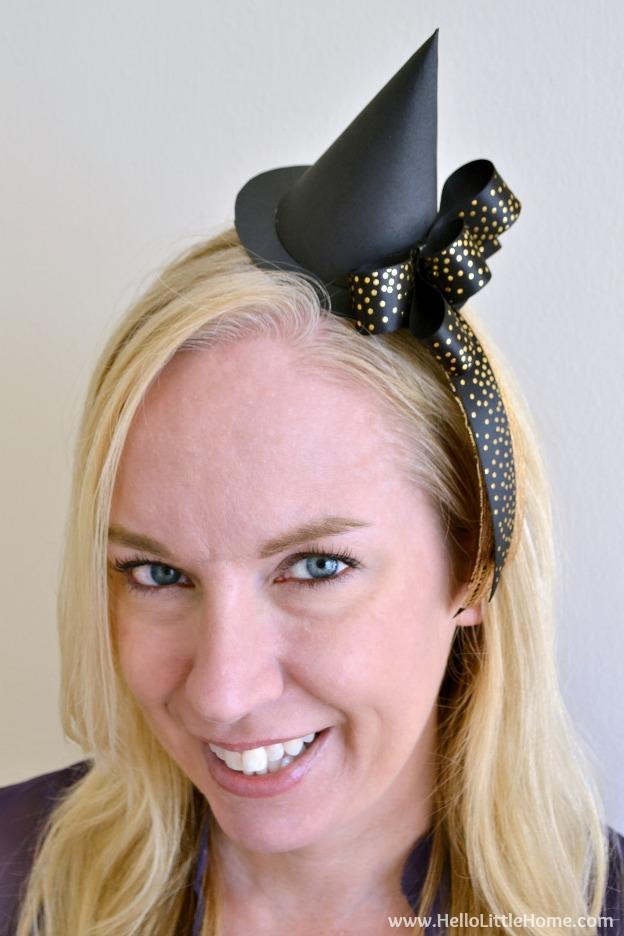 DIY Mini Witch Hat Headband 9ee576f069f