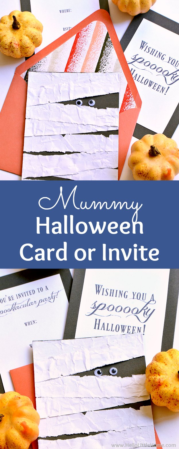 DIY Mummy Halloween Card or Invitation