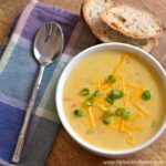 Easy Beer Cheese Soup ... a rich, delicious vegetarian game day recipe that's sure to please a crowd and guaranteed to warm you up on chilly fall and winter days! | Hello Little Home