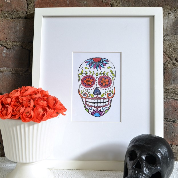 Free Sugar Skull Printable