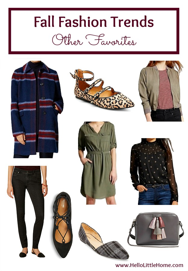 Five fall fashion trends anyone can wear ... wine! Update your fall wardrobe with these trendy, but classic clothes that you can wear this season and beyond! | Hello Little Home