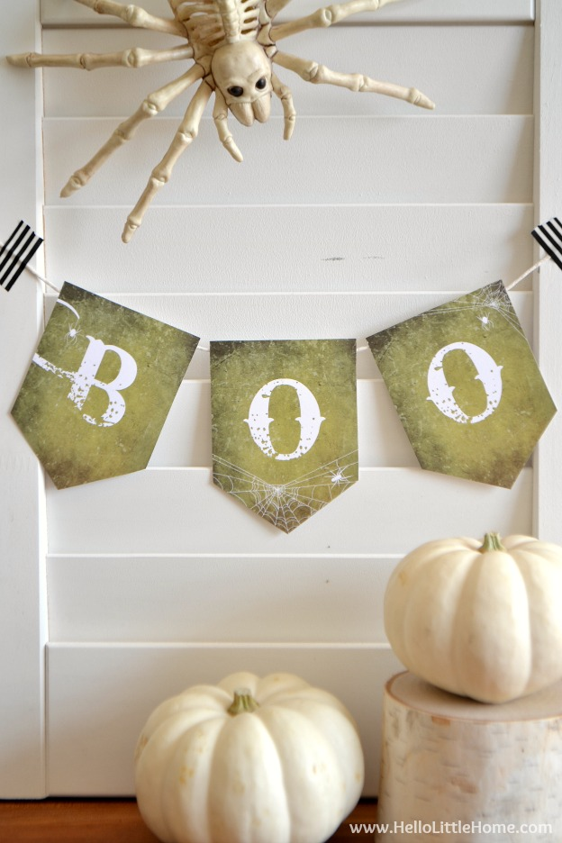 image relating to Printable Halloween Banners referred to as Totally free Printable Halloween Boo Banner Enjoyment Halloween