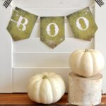 A Printable Halloween Banner with a Boo message.