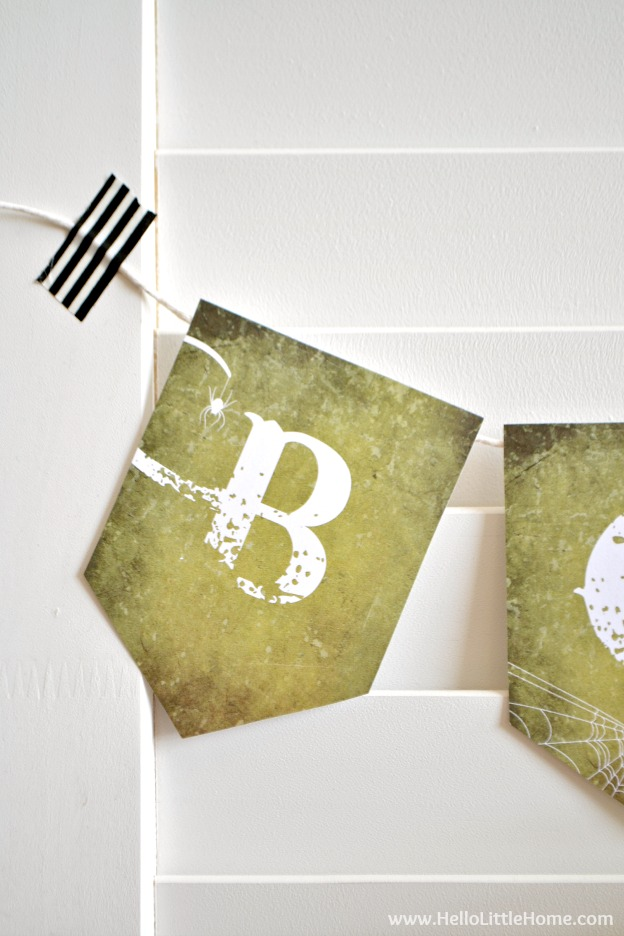 Free Printable Halloween Boo Banner ... decorate for Halloween the easy way with this cute banner that comes in two sizes!   Hello Little Home