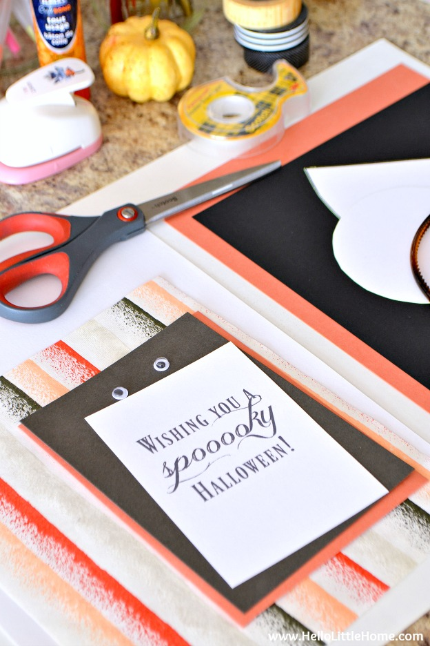 How to Throw a Halloween Craft Party! Call your friends, I'm sharing all my tips for throwing a fun and easy Halloween Crafting Party that's perfect for kids and adults! | Hello LIttle Home