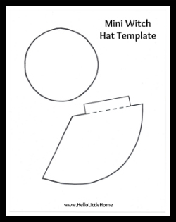 Diy mini witch hat headband for Paper witch hat template