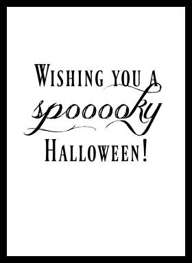 DIY Mummy Halloween Card - Free Printable Spooky Halloween Card Back | Hello Little Home