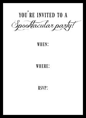 DIY Mummy Halloween Invitation - Free Printable Spooky Party Invite Back | Hello Little Home
