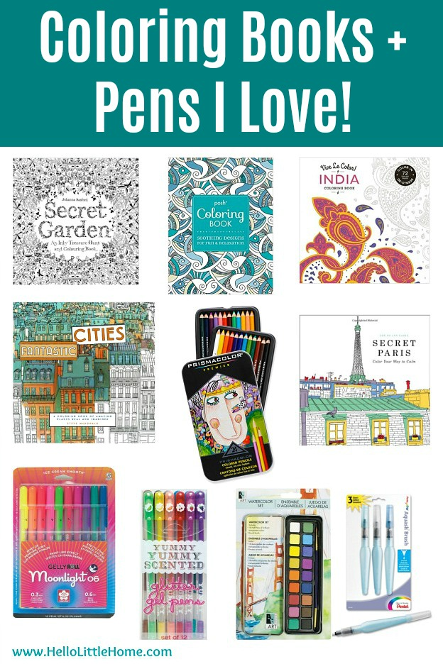Best Coloring Books, Pens, and Markers for adult coloring.