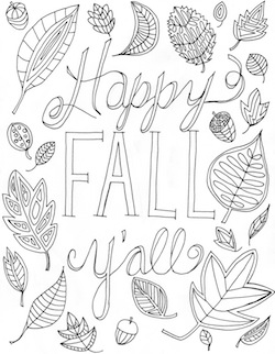 Free Fall Coloring Page Happy Fall Y All Hello Little Home