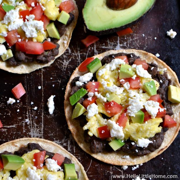 Mexican Breakfast Tostadas