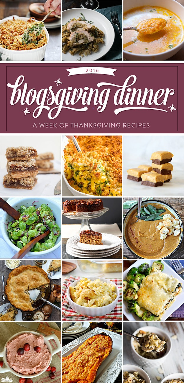 A roundup of delicious Thanksgiving Recipes for every course of the meal! | Hello Little Home