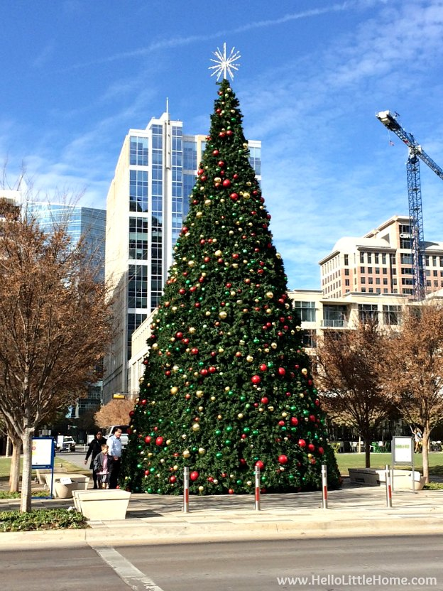 Dallas Holiday Tour 2016 ... come tour the Christmas lights and sights in Downtown Dallas with me! Klyde Warren Park | Hello Little Home
