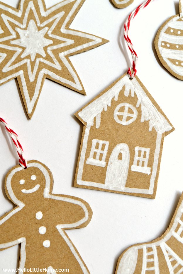 diy cardboard gingerbread ornaments make your own christmas ornaments with this fun - Cardboard Christmas Decorations