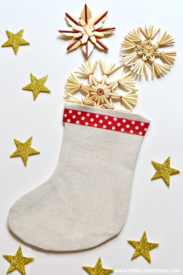 Mini Christmas Stocking Pattern | Hello Little Home