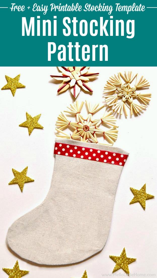 Christmas Stocking Template.Mini Christmas Stocking Pattern Hello Little Home