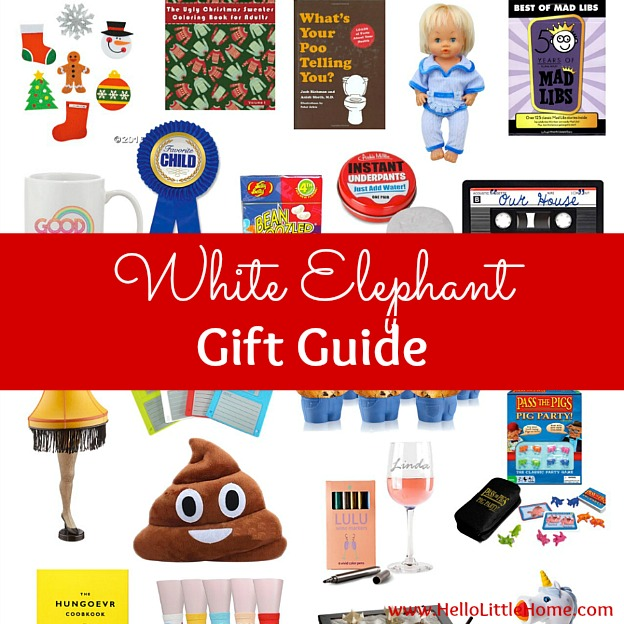 White Elephant Gift Guide ... tons of fun, creative White Elephant gift ideas for your holiday party! Find the perfect present for your White Elephant Gifts Exchange … lots of hilarious Yankee Swap gifts worth fighting for! From White Elephant Gifts people want (great for work or any Christmas party) to funny gift ideas at all price ranges from cheap gifts under $5, under $10, to $20 and more. | Hello Little Home