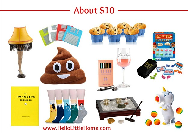 $10 White Elephant Gift Ideas | Hello Little Home