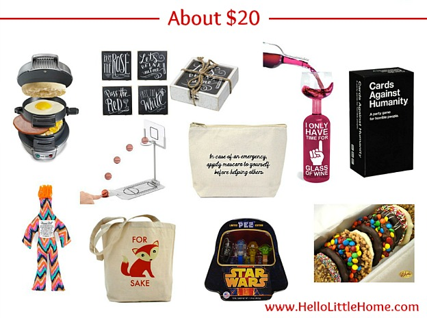 $20 White Elephant Gift Ideas | Hello Little Home