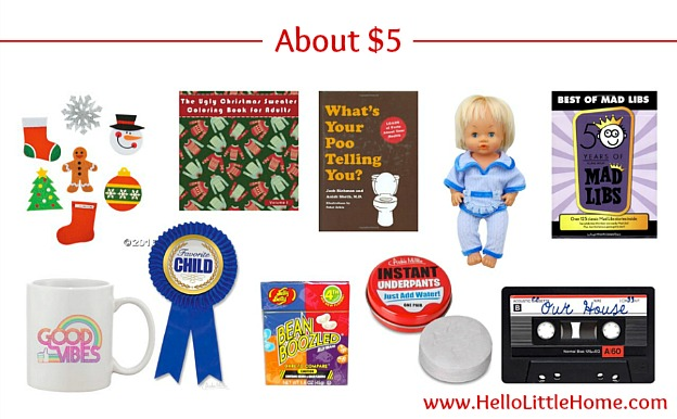 $5 White Elephant Gift Ideas | Hello Little Home