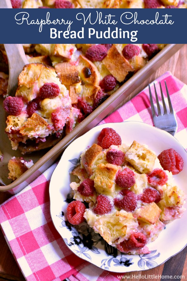 Raspberry White Chocolate Bread Pudding