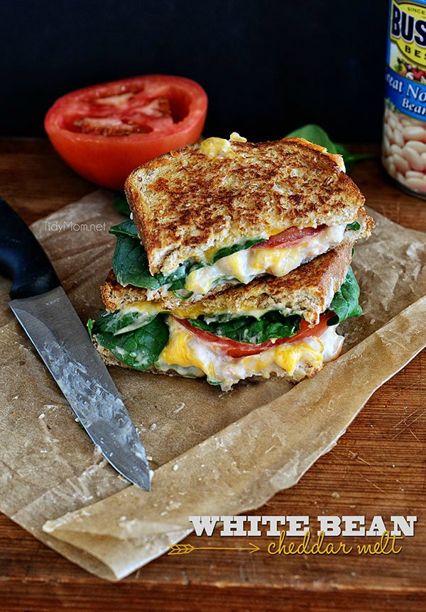 White Bean Cheddar Melts from Tidy Mom | Hello Little Home