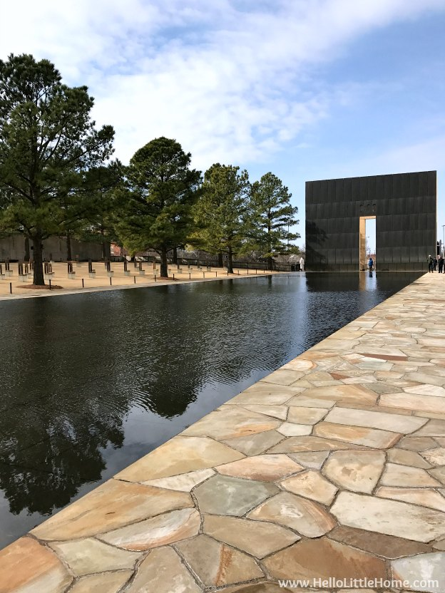 48 Hours in Oklahoma City travel guide! Take a tour of this fun, walkable city ... you won't believe all the things to do in Oklahoma City! OKC National Memorial and Museum Reflecting Pool | Hello Little Home