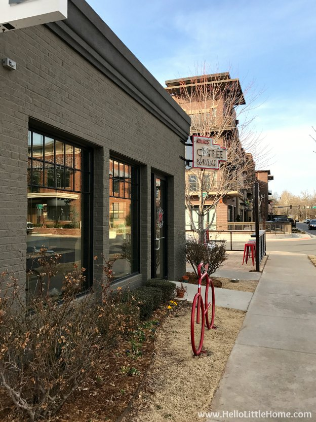 48 Hours in Oklahoma City travel guide! Take a tour of this fun, walkable city ... you won't believe all the things to do in Oklahoma City! Hank's Coffee and Wine and Midtown OKC | Hello Little Home