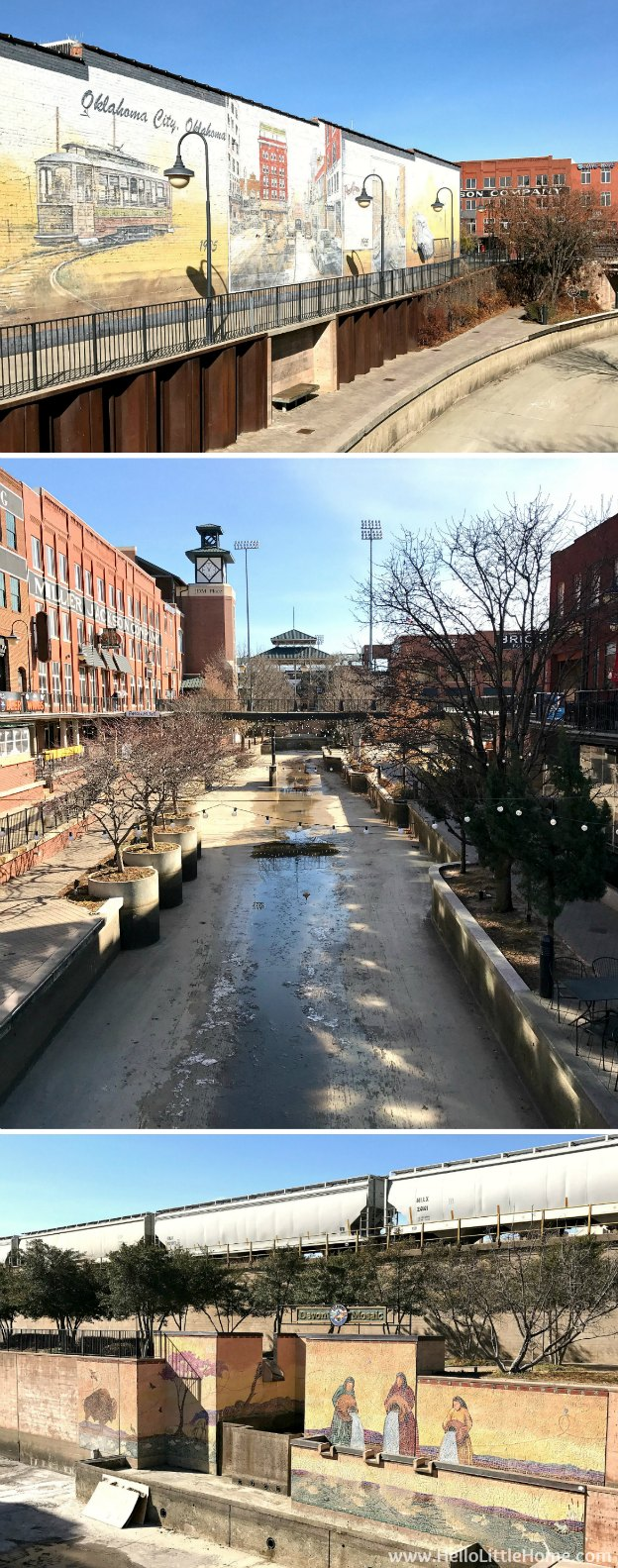 48 Hours in Oklahoma City travel guide! Take a tour of this fun, walkable city ... you won't believe all the things to do in Oklahoma City! Bricktown Canal | Hello Little Home