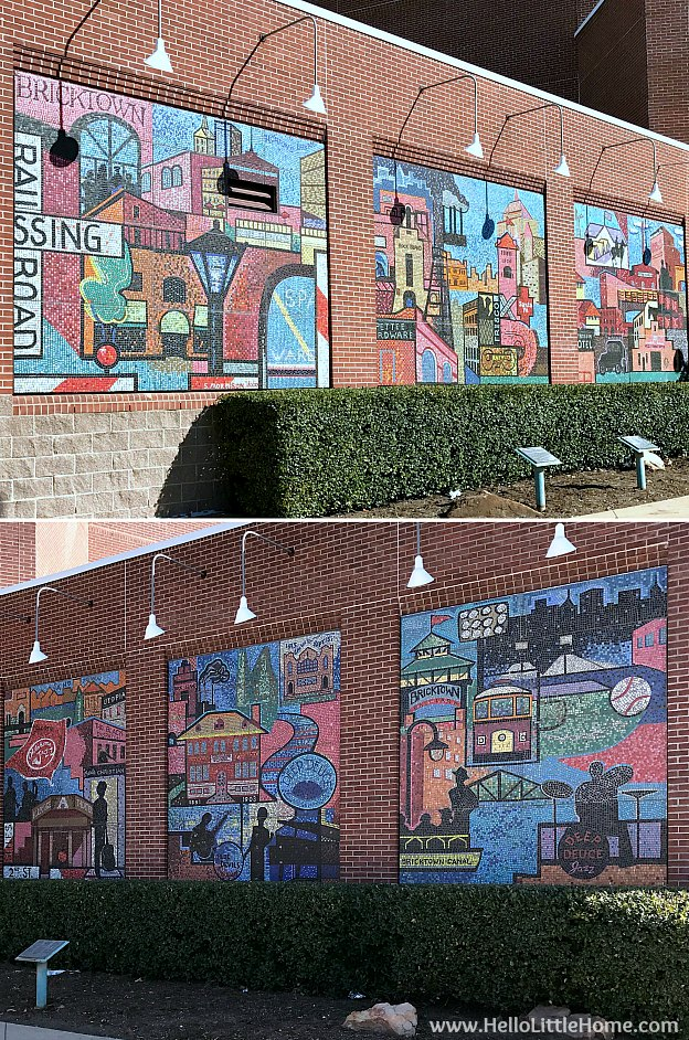 48 Hours in Oklahoma City travel guide! Take a tour of this fun, walkable city ... you won't believe all the things to do in Oklahoma City! Chicksaw Ballpark in Bricktown | Hello Little Home