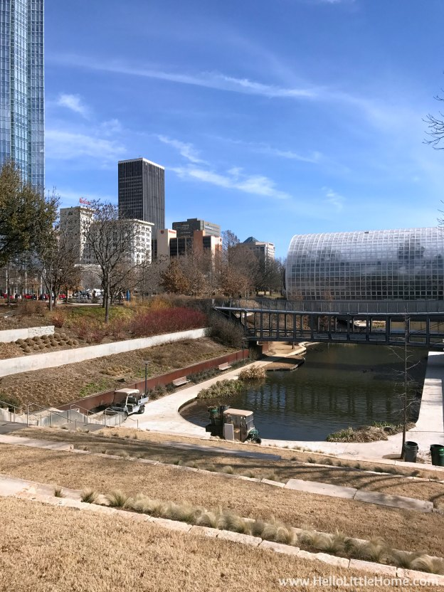 48 Hours in Oklahoma City travel guide! Take a tour of this fun, walkable city ... you won't believe all the things to do in Oklahoma City! Myriad Botanical Gardens   Hello Little Home