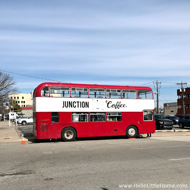 48 Hours in Oklahoma City travel guide! Take a tour of this fun, walkable city ... you won't believe all the things to do in Oklahoma City! Junction Coffee Truck on Automobile Alley | Hello Little Home