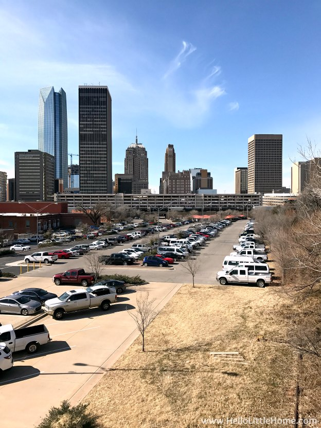 48 Hours in Oklahoma City travel guide! Take a tour of this fun, walkable city ... you won't believe all the things to do in Oklahoma City! Beautiful view of Downtown OKC. | Hello Little Home