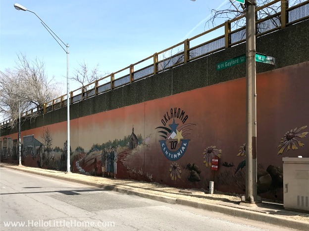 48 Hours in Oklahoma City travel guide! Take a tour of this fun, walkable city ... you won't believe all the things to do in Oklahoma City! Downtown Mural | Hello Little Home