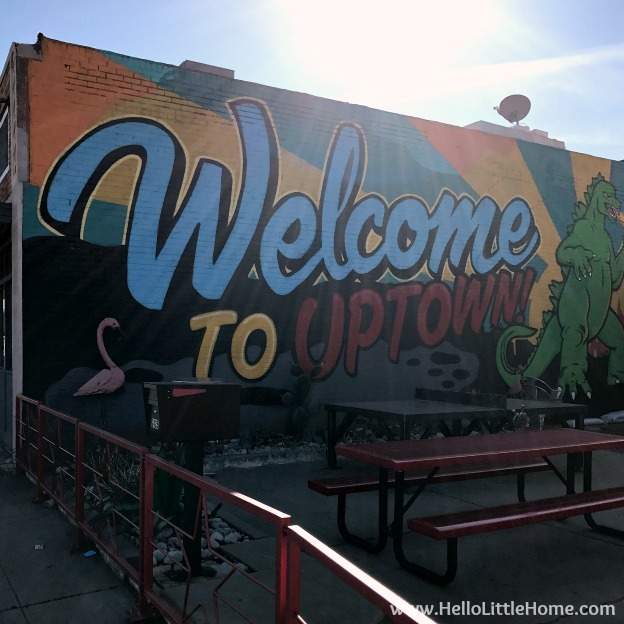 48 Hours in Oklahoma City travel guide! Take a tour of this fun, walkable city ... you won't believe all the things to do in Oklahoma City! Uptown Mural | Hello Little Home