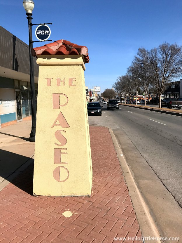 48 Hours in Oklahoma City travel guide! Take a tour of this fun, walkable city ... you won't believe all the things to do in Oklahoma City! The Paseo District | Hello Little Home