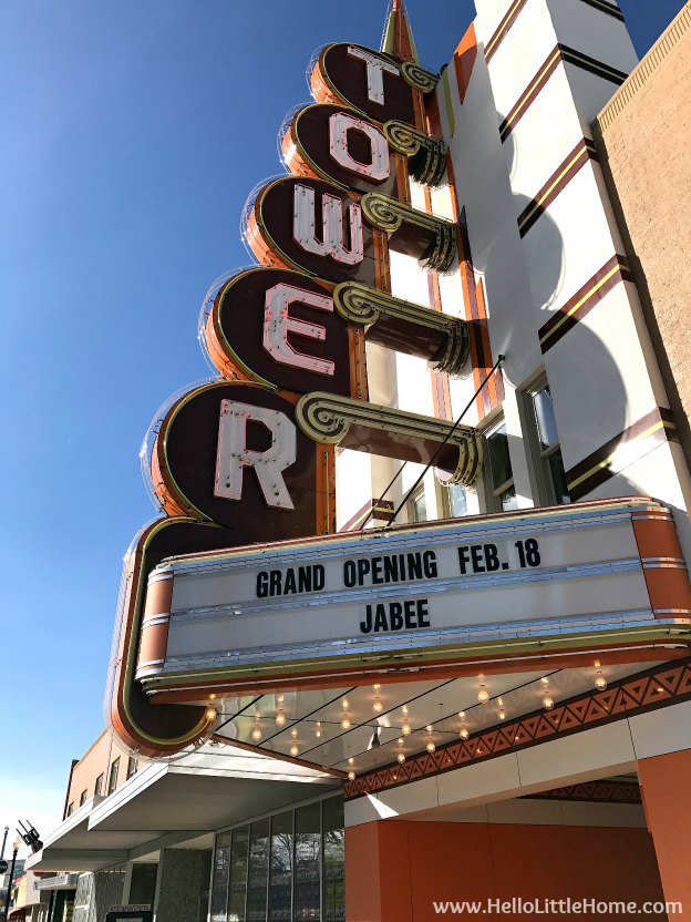 48 Hours in Oklahoma City travel guide! Take a tour of this fun, walkable city ... you won't believe all the things to do in Oklahoma City! Tower Theatre in Uptown | Hello Little Home