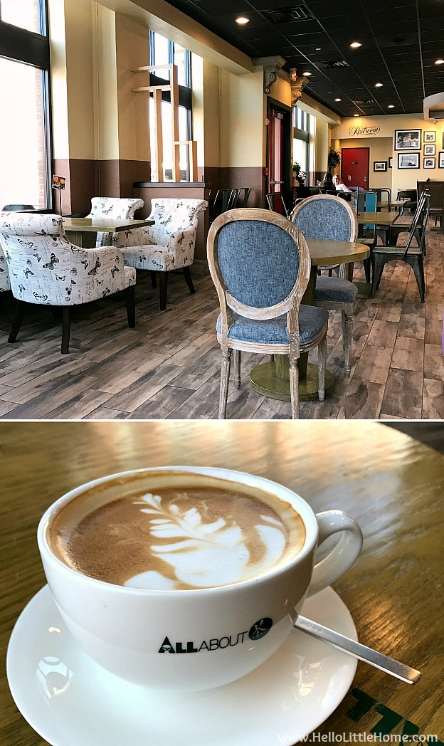 48 Hours in Oklahoma City travel guide! Take a tour of this fun, walkable city ... you won't believe all the things to do in Oklahoma City! All About Cafe in Bricktown | Hello Little Home