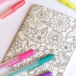 At Home Date Night Ideas: Pull out your coloring books and do some adult coloring together. | Hello Little Home