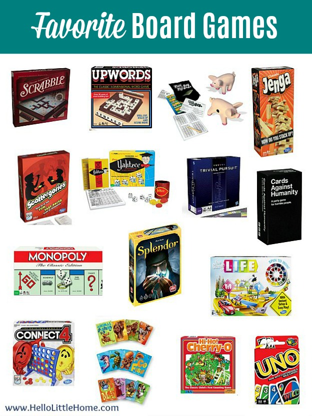 How to host a Game Night Party ... favorite board games!   Hello Little Home