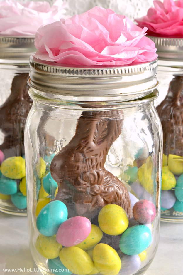 Mason jar easter baskets mason jar easter baskets a cute gift idea that takes minutes to make negle Image collections