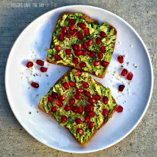 150+ Vegetarian Easter Recipes that are perfect for your holiday dinner or brunch, including this Avocado and Pomegranate Toast from Veggies Save the Day! Find tons of vegetarian and vegan recipe ideas - from healthy appetizers to decadent desserts - that your whole family will love! Hello Little Home