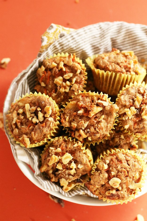 150+ Vegetarian Easter Recipes that are perfect for your holiday dinner or brunch, including these Healthy Carrot Muffins from My Darling Vegan! Find tons of vegetarian and vegan recipe ideas - from healthy appetizers to decadent desserts - that your whole family will love! Hello Little Home