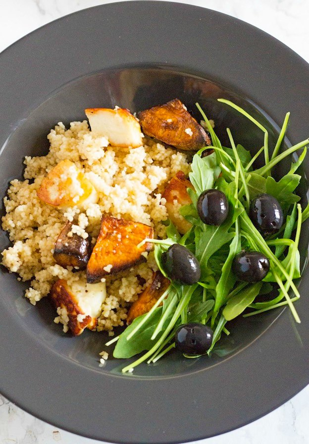 150+ Vegetarian Easter Recipes that are perfect for your holiday dinner or brunch, including this Halloumi Sweet Potato and Bulgur Salad from The Cook Report! Find tons of vegetarian and vegan recipe ideas - from healthy appetizers to decadent desserts - that your whole family will love! Hello Little Home