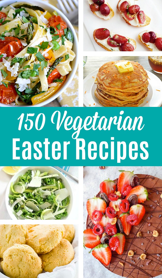 A collage of Vegetarian Easter Recipes
