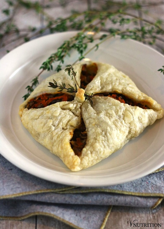 150+ Vegetarian Easter Recipes that are perfect for your holiday dinner or brunch, including these Lentil Puff Pastry Pockets from VNutrition! Find tons of vegetarian and vegan recipe ideas - from healthy appetizers to decadent desserts - that your whole family will love! Hello Little Home